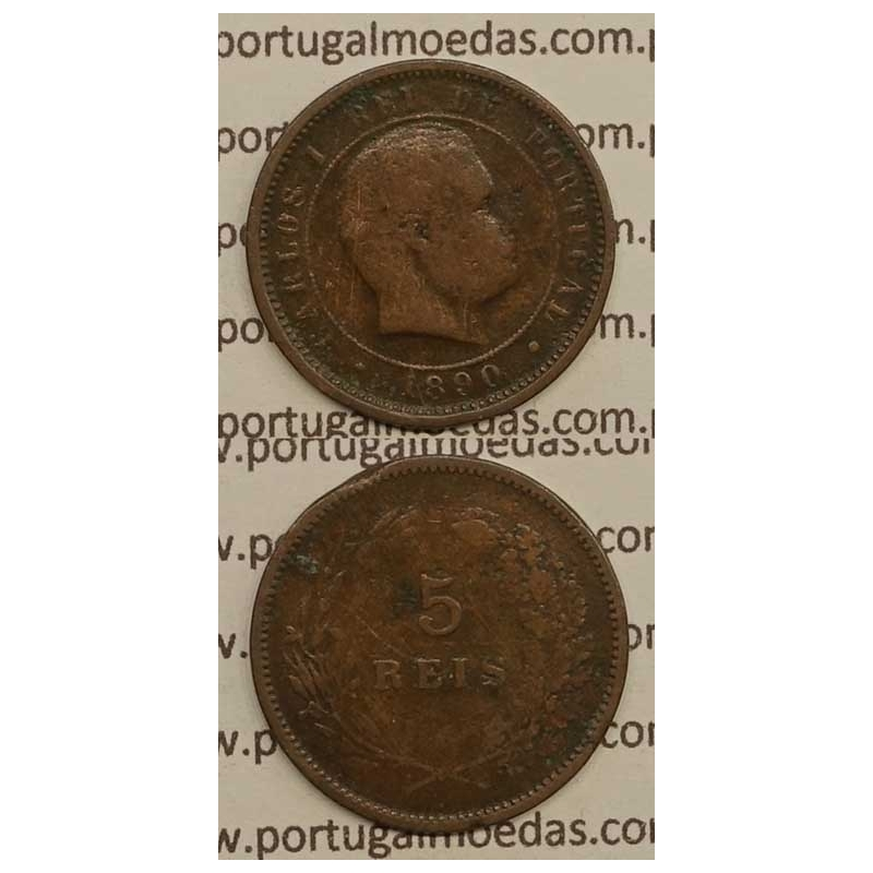 5 REIS BRONZE 1890 (BC) - D. CARLOS I