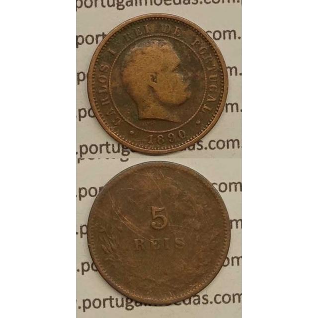 5 REIS BRONZE 1890 (BC-) - D. CARLOS I