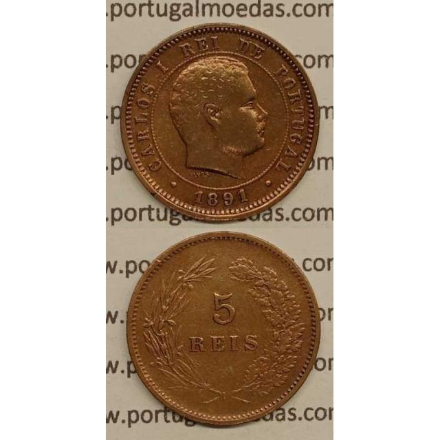5 REIS BRONZE 1891 (MBC) - D. CARLOS I