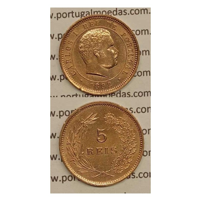 5 REIS BRONZE 1892 (BELA) - D. CARLOS I