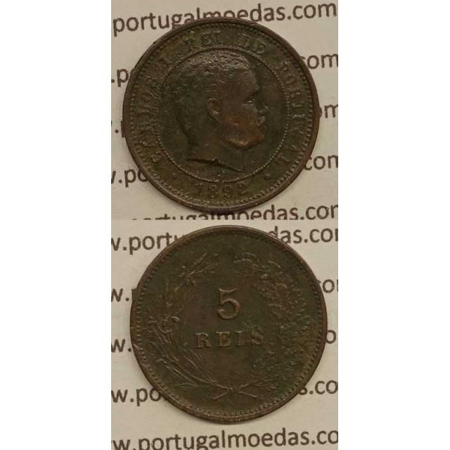 5 REIS BRONZE 1892 (MBC+) - D. CARLOS I