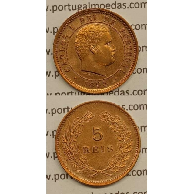 5 REIS BRONZE 1893 (BELA) - D. CARLOS I