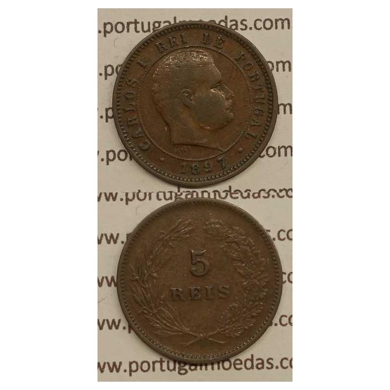 5 REIS BRONZE 1897 (MBC) - D. CARLOS I