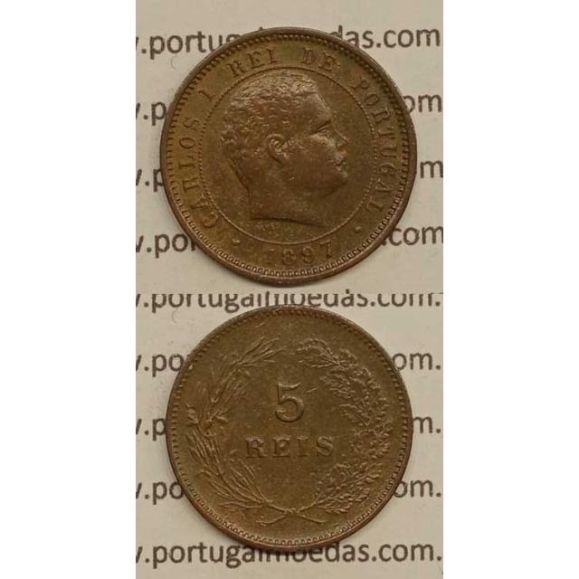 5 REIS BRONZE 1897 (BC+) - D. CARLOS I
