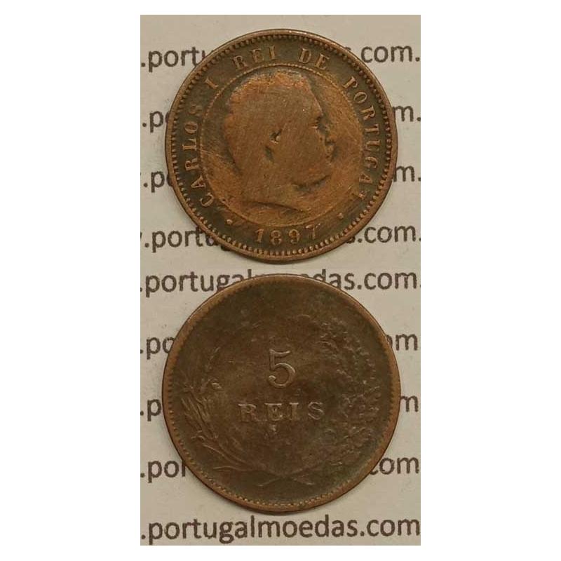 5 REIS BRONZE 1897 (BC) - D. CARLOS I
