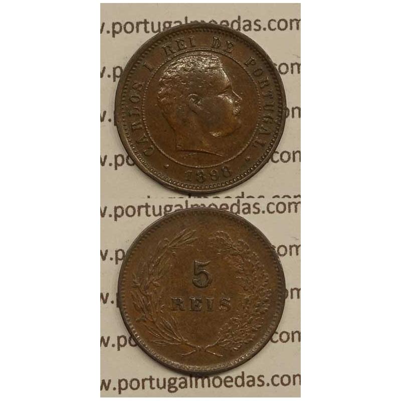 5 REIS BRONZE 1898 (MBC) - D.CARLOS I