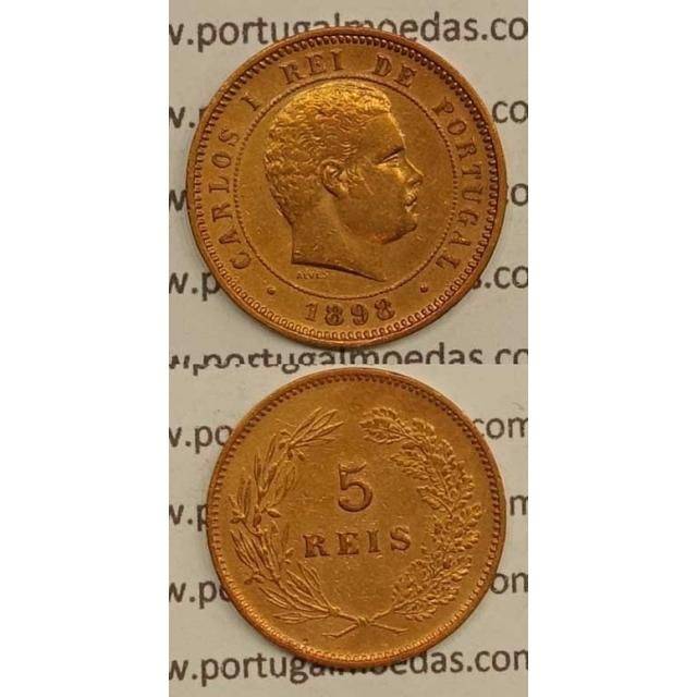 5 REIS BRONZE 1898 (MBC+) - D.CARLOS I