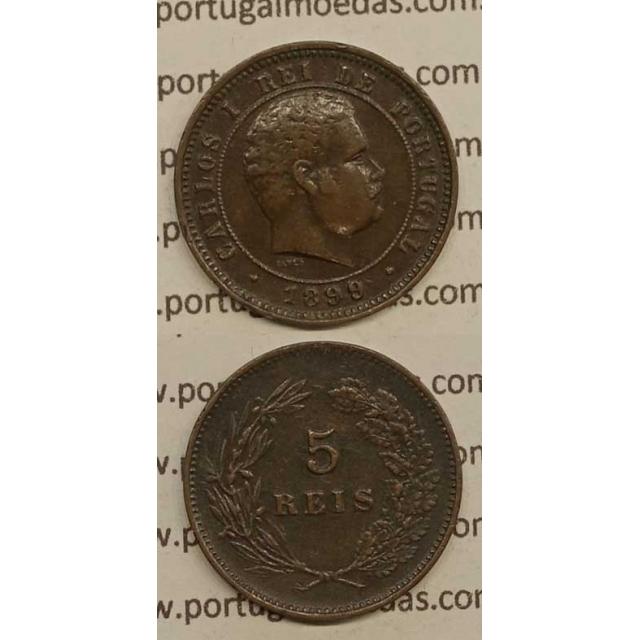 5 REIS BRONZE 1899 (MBC+) - D.CARLOS I