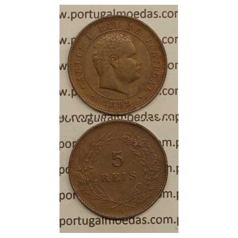 5 REIS BRONZE 1899 (MBC) - D.CARLOS I