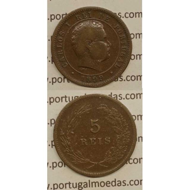 5 REIS BRONZE 1899 (BC) - D.CARLOS I