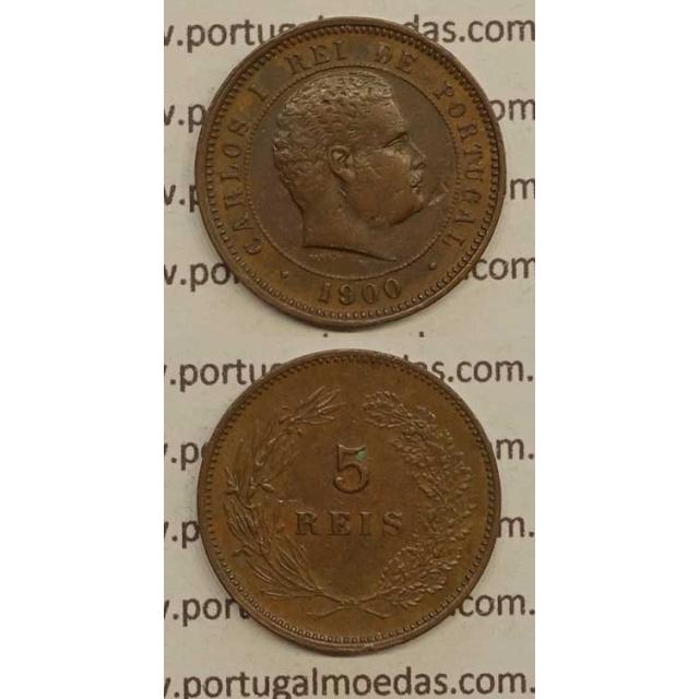 5 REIS BRONZE 1900 (MBC+) - D. CARLOS I