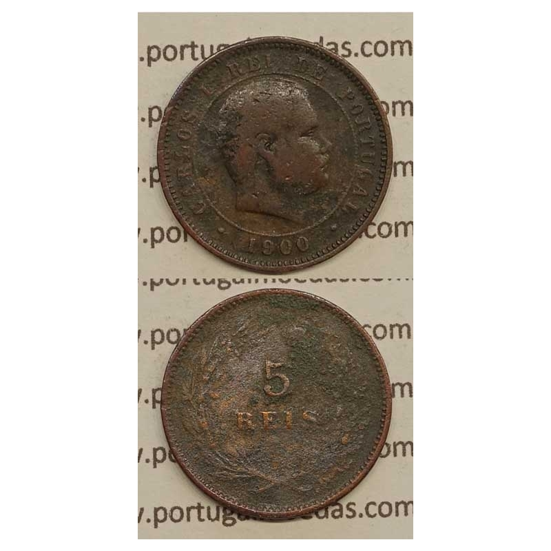 5 REIS BRONZE 1900 (BC) - D. CARLOS I