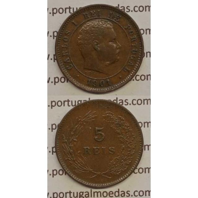 5 REIS BRONZE 1901 (MBC+) - D. CARLOS I