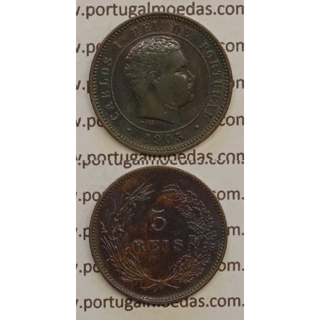 5 REIS BRONZE 1905 (MBC+) - D. CARLOS I