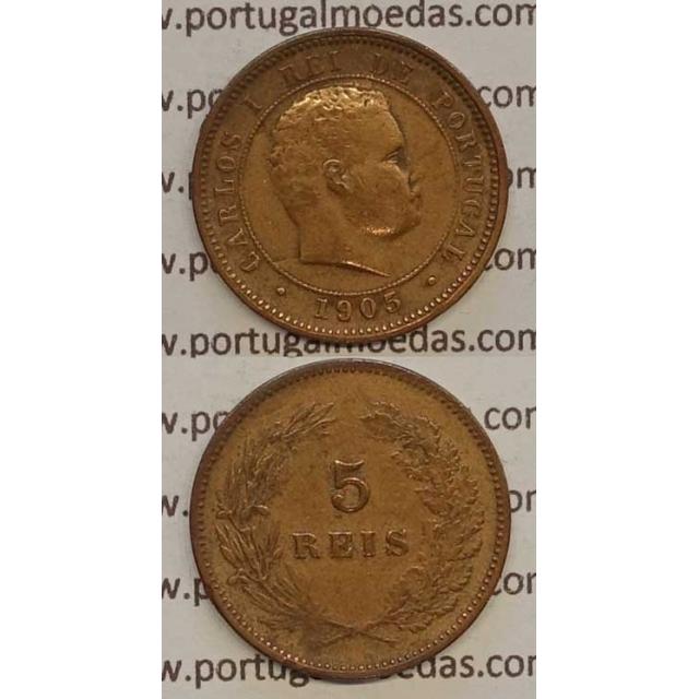 5 REIS BRONZE 1905 (BC) - D. CARLOS I
