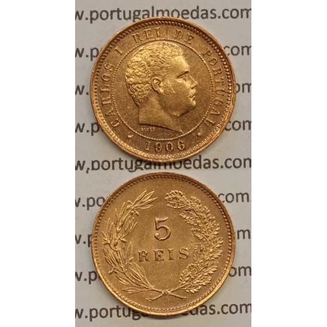 5 REIS BRONZE 1906 (SOB) - D. CARLOS I