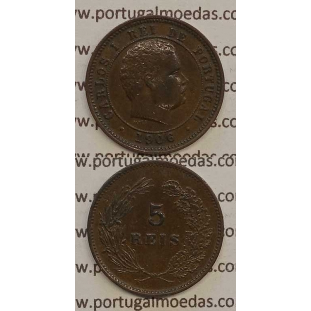 5 REIS BRONZE 1906 (MBC+) - D. CARLOS I
