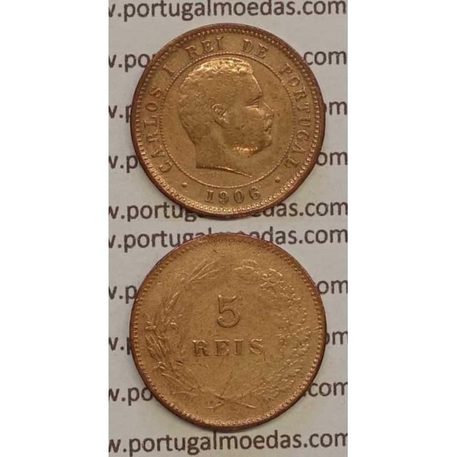 5 REIS BRONZE 1906 (BC) - D. CARLOS I