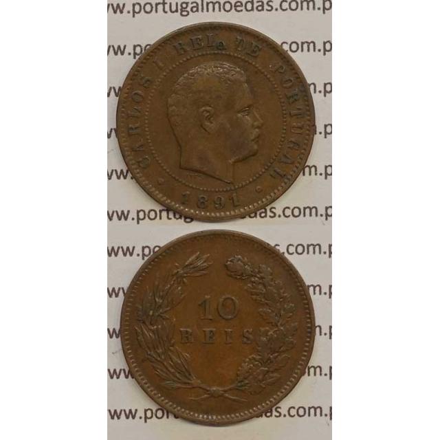 10 REIS BRONZE 1891 (MBC+) - D. CARLOS I