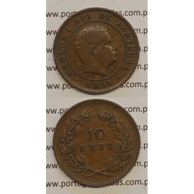 10 REIS BRONZE 1891 (MBC) - D. CARLOS I