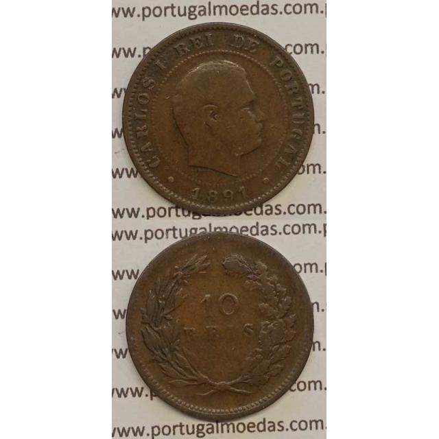 10 REIS BRONZE 1891 (BC) - D. CARLOS I