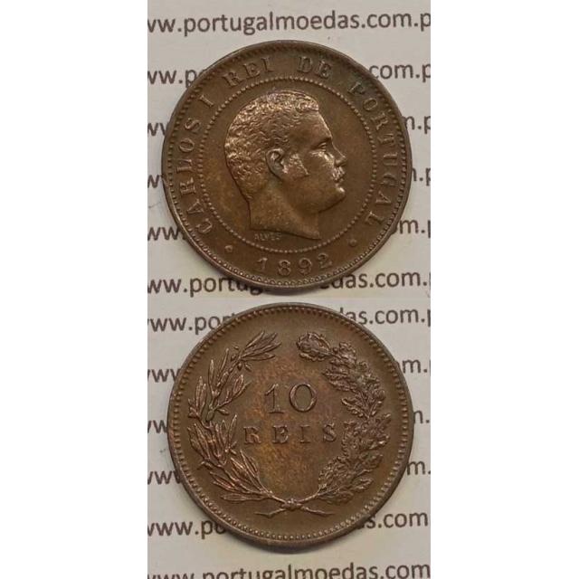 10 REIS BRONZE 1892 (BELA) - D. CARLOS I