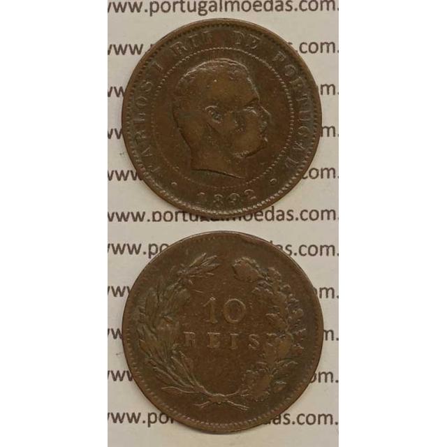 10 REIS BRONZE 1892 (MBC) - D. CARLOS I