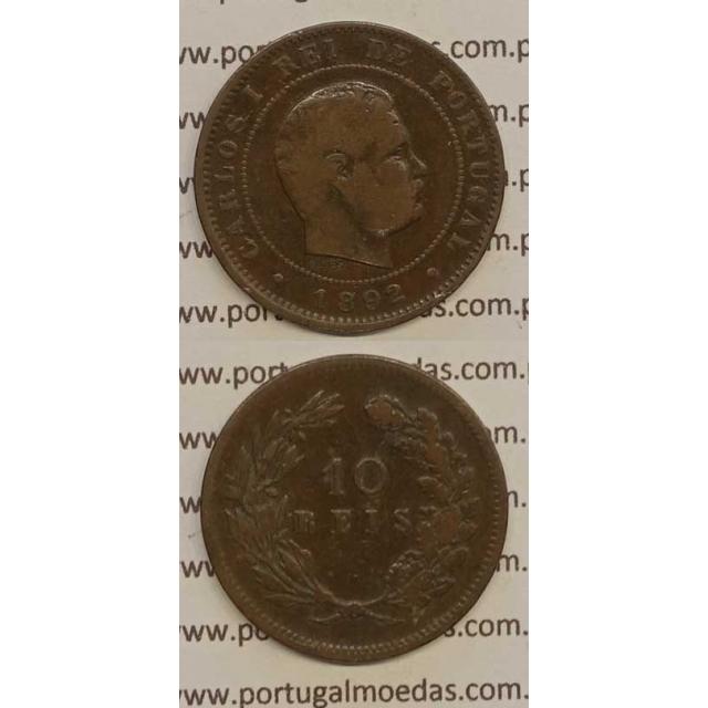 10 REIS BRONZE 1892 (BC) - D. CARLOS I