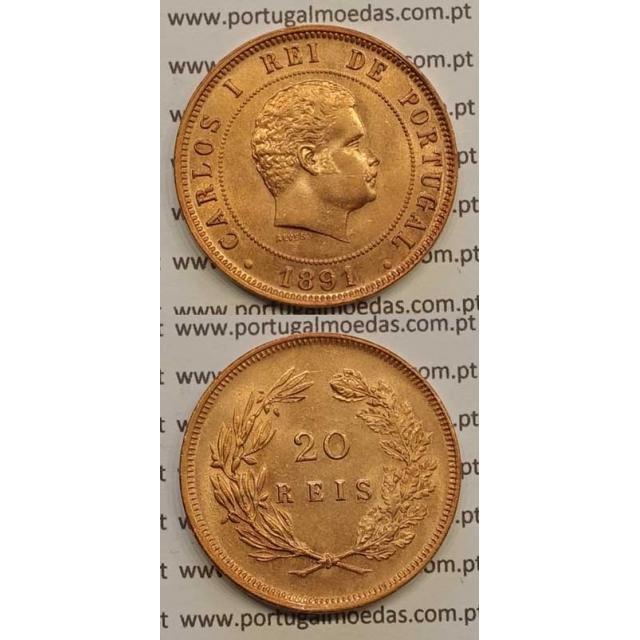 20 REIS BRONZE 1891 (SOB) - D. CARLOS I