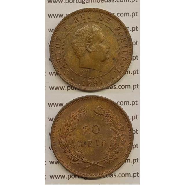 20 REIS BRONZE 1891 (BELA/SOB) - D. CARLOS I
