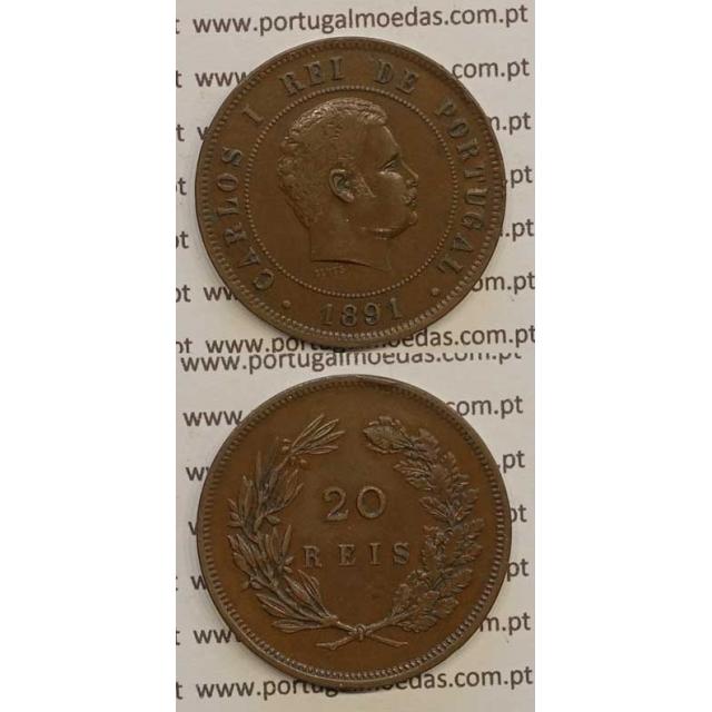20 REIS BRONZE 1891 (MBC) - D. CARLOS I