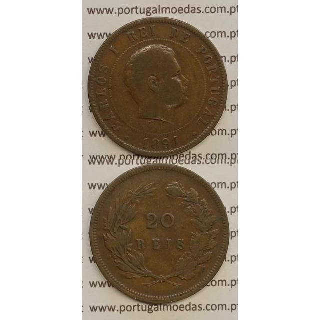 20 REIS BRONZE 1891 (BC) - D. CARLOS I