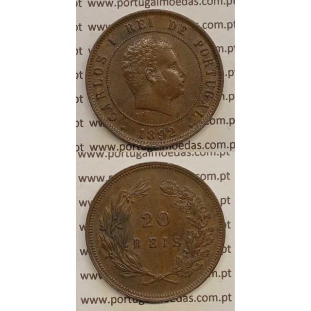 20 REIS BRONZE 1892 (BELA) - D. CARLOS I