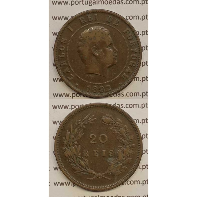 20 REIS BRONZE 1892 (MBC) - D. CARLOS I