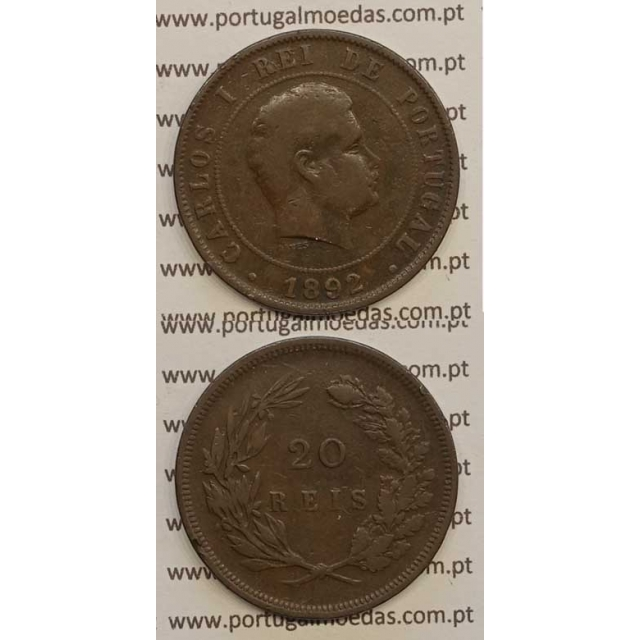 20 REIS BRONZE 1892 (BC) - D. CARLOS I
