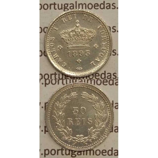 50 REIS PRATA 1893 (BELA) - D. CARLOS I