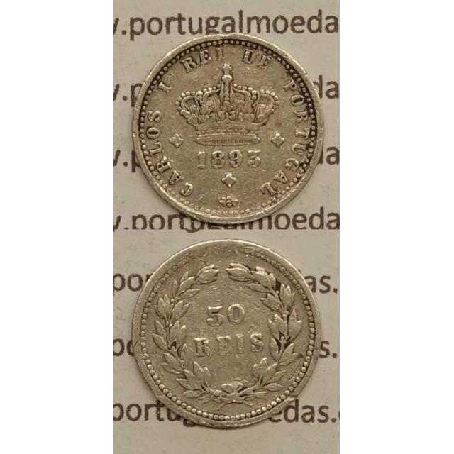 50 REIS PRATA 1893 (MBC) - D. CARLOS I
