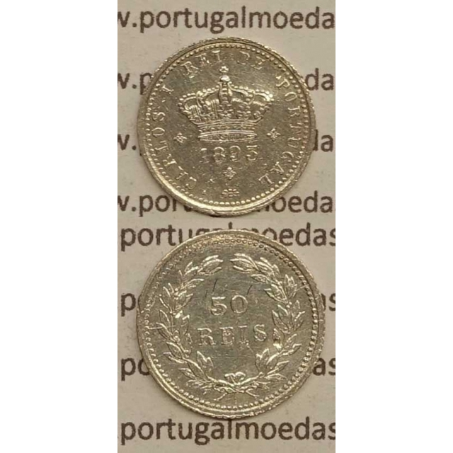 50 REIS PRATA 1893 (MBC+) - D. CARLOS I