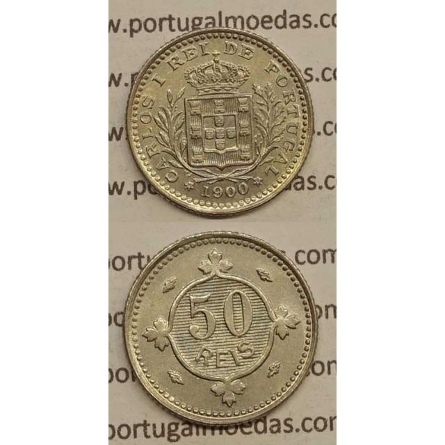 50 REIS CUPRO NÍQUEL 1900 (SOB) - D. CARLOS I