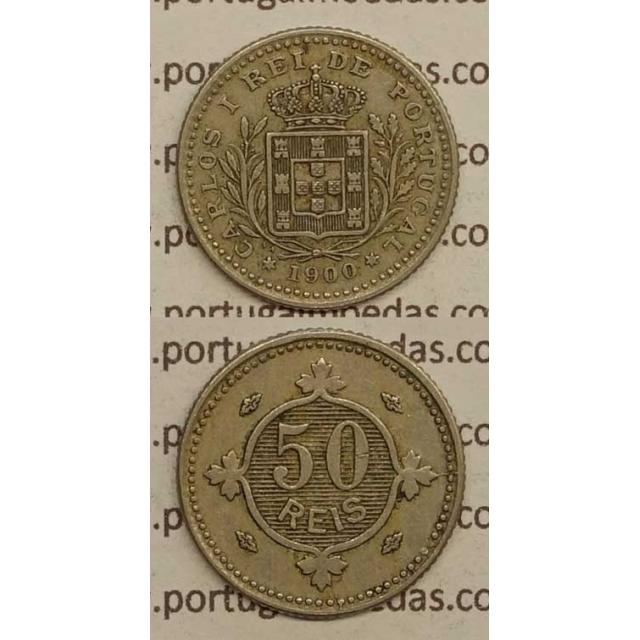 50 REIS CUPRO NÍQUEL 1900 (MBC) - D. CARLOS I