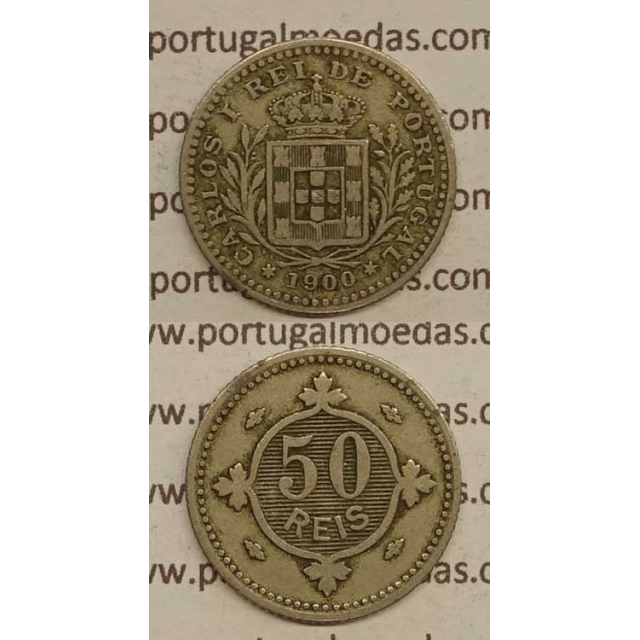 50 REIS CUPRO NÍQUEL 1900 (BC) - D. CARLOS I