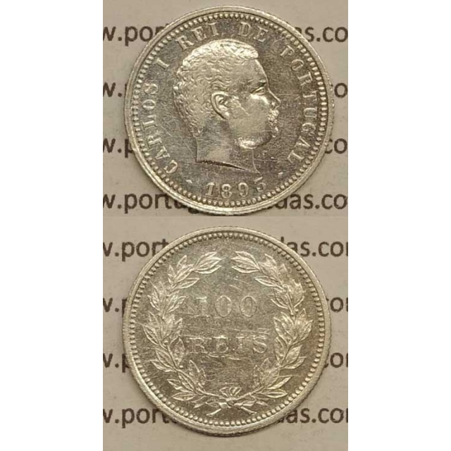 100 REIS PRATA 1893 (MBC+) - D. CARLOS I