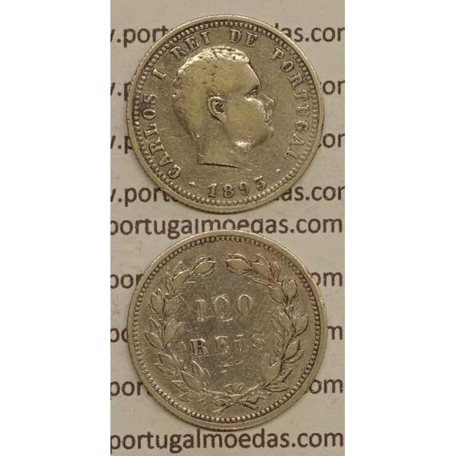 100 REIS PRATA 1893 (MBC) - D. CARLOS I