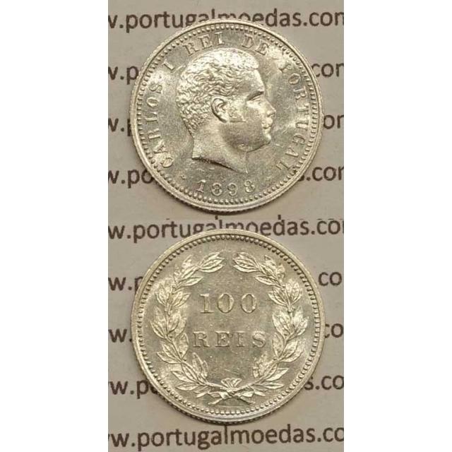 100 REIS PRATA 1898 (SOB) - D. CARLOS I