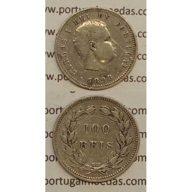100 REIS PRATA 1898 (MBC) - D. CARLOS I
