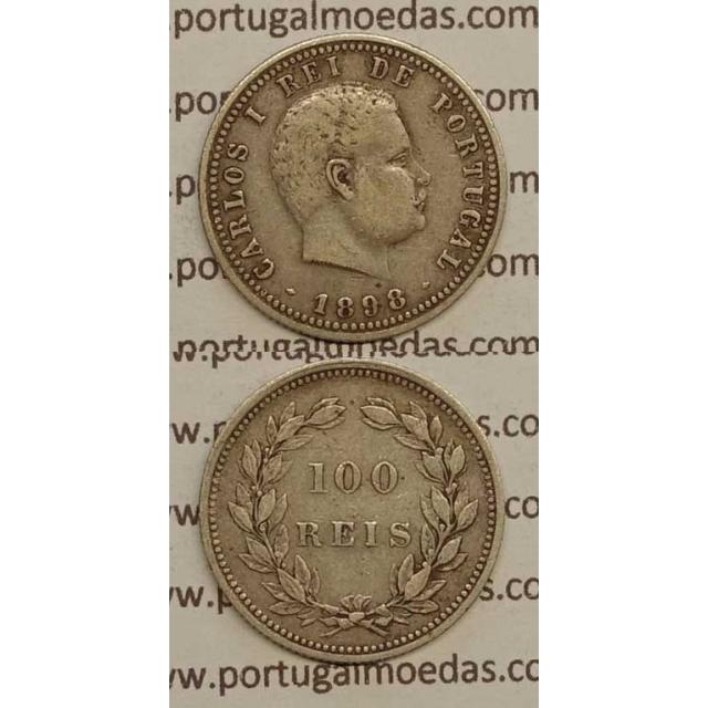 100 REIS PRATA 1898 (MBC+) - D. CARLOS I