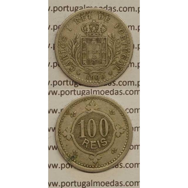100 REIS CUPRO NÍQUEL 1900 (BC) - D. CARLOS I