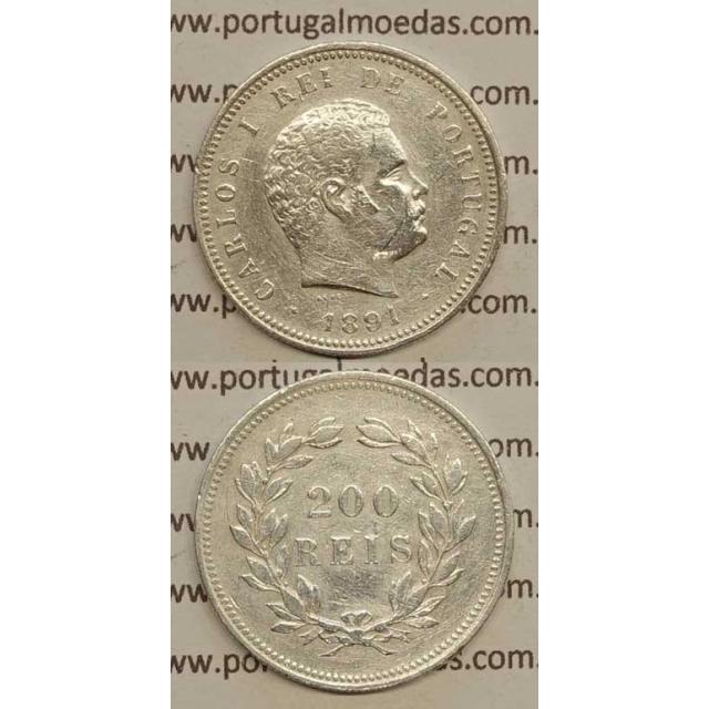 200 REIS PRATA 1891 (MBC) - D. CARLOS I