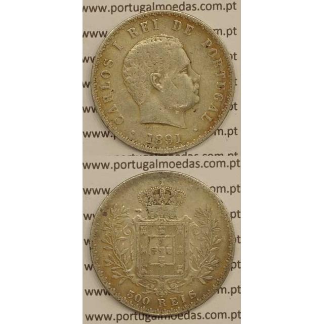 500 REIS PRATA 1891 (MBC+) - D. CARLOS I