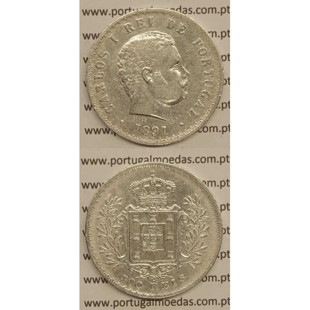 500 REIS PRATA 1891 (MBC) - D. CARLOS I